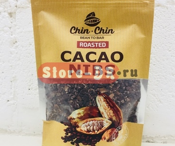 Обжаренные какао бобы Cacao Nibs roasted, Chin Chin bean to bar, 8 oz. (0,226 g.)