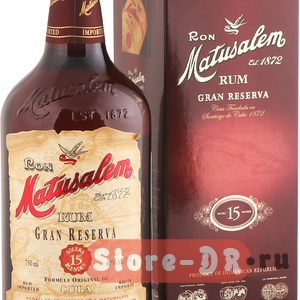 Ром Matusalem Gran Reserva 15 years, 40 % alc. 0.75 ml Matusalem & Co