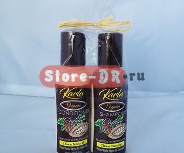 Набор шампунь и кондиционер Шоколад, Organic Capilar Choco Natural set shampoo & conditioner Karla cosmetic 4 oz