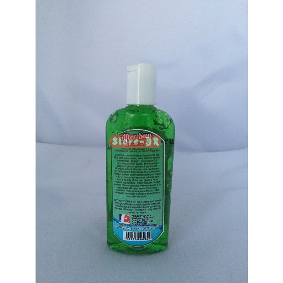 After Sun Gel Aloe Vera Karla Cosmetic 4 oz