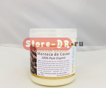 Твёрдое какао масло, Cocoa Butter Manteca De Cacao 100% pure 12 oz The Organic Caribbean