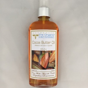 Cocoa Butter Oil Manteca Cacao Liquida 100% pure 8 oz The Organic Caribbean