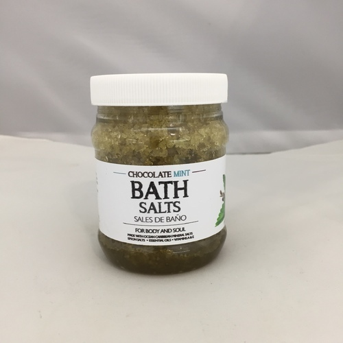Chocolate Mint Bath Salts Sales de Baño 8 oz The Organic Caribbean