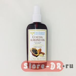 Cocoa Almond Oil ( for massage, anti-oxidant) 4 oz The Organic Caribbean