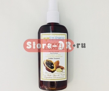 Какао Миндаль масло, Cocoa Almond Oil ( for massage, anti-oxidant) 4 oz The Organic Caribbean