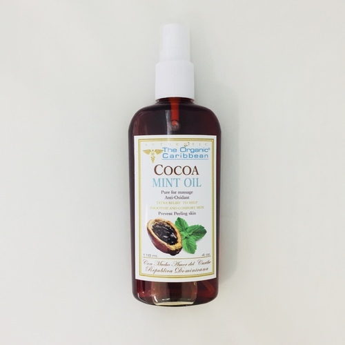 Cocoa Mint Oil Anti -oxidant 4 oz 118 ml The Organic Caribbean