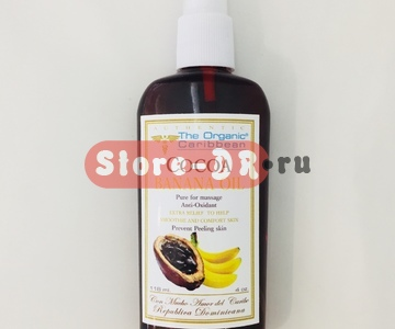 Масло для тела Какао Банан, Cocoa Banana oil anti-oxidant 4 oz 118 ml The Organic Caribbean
