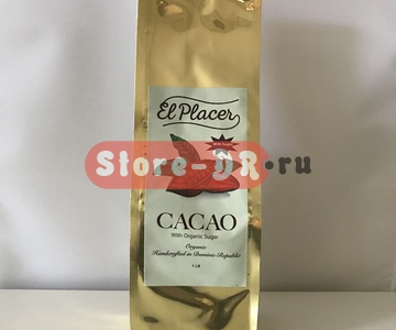 Натуральное Какао порошок | Cacao | Cocoa (powder) с сахаром With Organic Sugar El Placer 1 lb 460 g