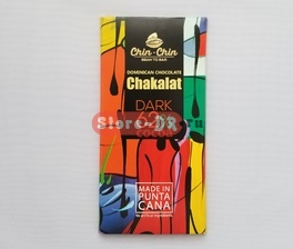 Dominican Chocolate Chakalat Dark 62% Cocoa Chin Chin