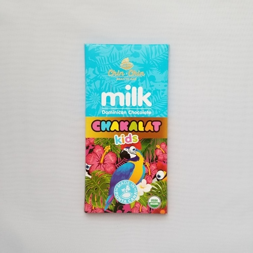 Milk Dominican Chocolate Chakalat Kids  Chin Chin 2.82 oz 80 g