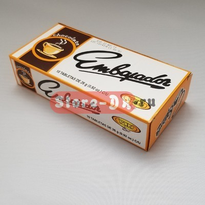 Горячий шоколад (Chocolate) Embajador Corte 10 tabletas de 26 g (0.92oz) C/U порционный
