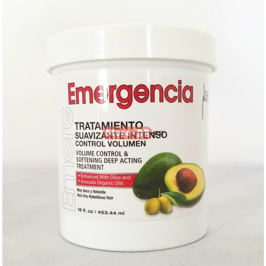 Emergencia Tratamiento Suavizante Intenso Control Volumen Avocado & Olive Oil 16 oz